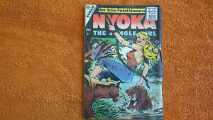 NYOKA-THE-JUNGLE-GIRL-14-VOL-1-1955-Charlton-golden-age-comic-book-books-lot-of