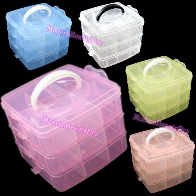 Plastic Container Case Craft Tool for Jewelry Bead Organizer Box Storage,Random