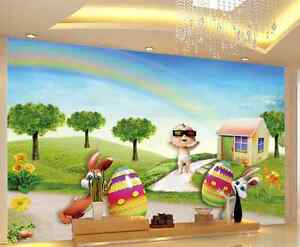 3D-Baby-And-Lovely-Rabbits-33-Wall-Paper-Wall-Print-Decal-Wall-AJ-Wall-Paper