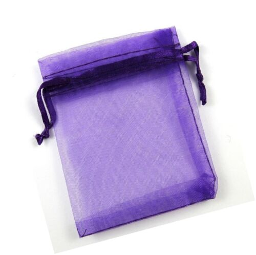 """Package of 100 Organza Wedding Party Favor Bags 6/""""x9/"""", Purple... Free Shipping"""