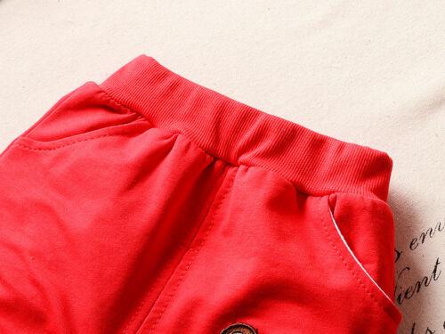 T-shirt Pants Little Bear Clothes set 3PCS Toddler Infant Baby Boy Outfit Coat