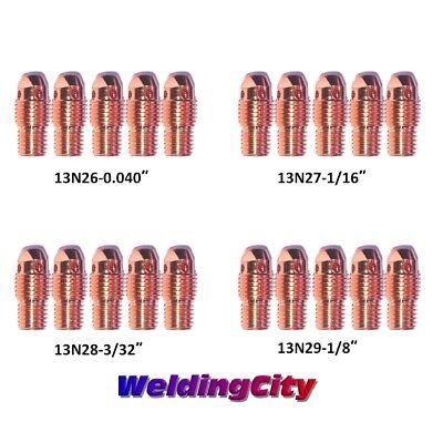 """WeldingCity 20-pk Assorted Collet Body 13N27-13N28 1//16/""""-3//32/"""" TIG Welding Torch"""