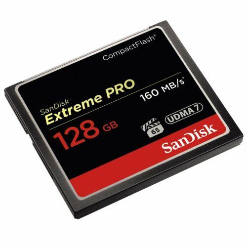 Sandisk Extreme Pro 128 GB de memoria CompactFlash de 160 MB//s Tarjeta-Nuevo