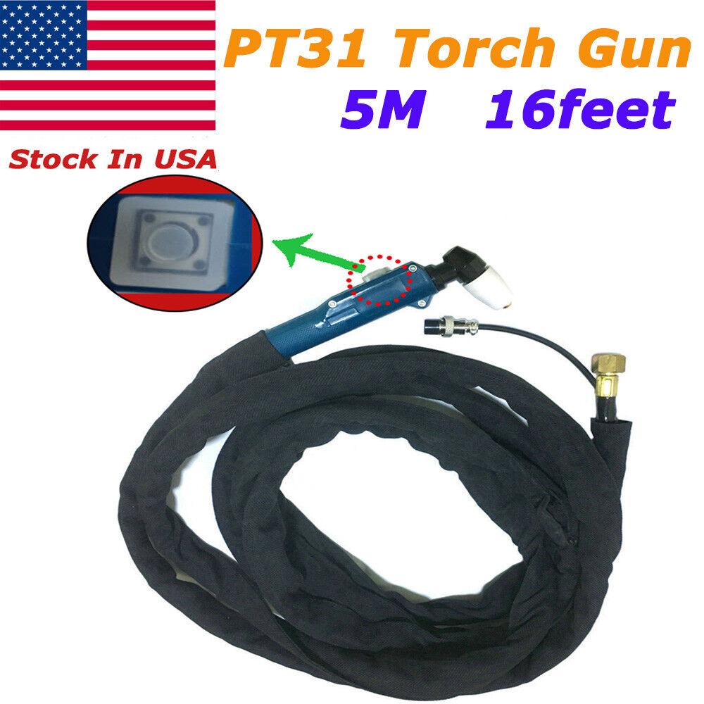 PT31 Plasma Cutting Torch Head Body Gun 5M For CUT50 CT312 /& Free Consumables