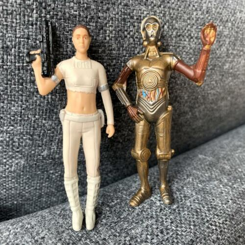2 STAR WARS Clone Wars 3.75/'/' C3PO DROIDS /& LEIA Action Figure toy Stormtroops