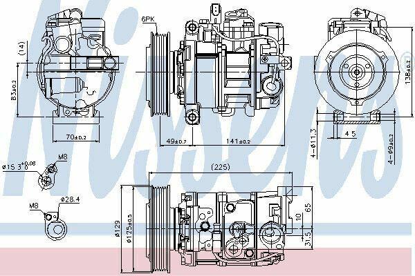 Nissens Compresores 89209 Oe: 4F0260805R