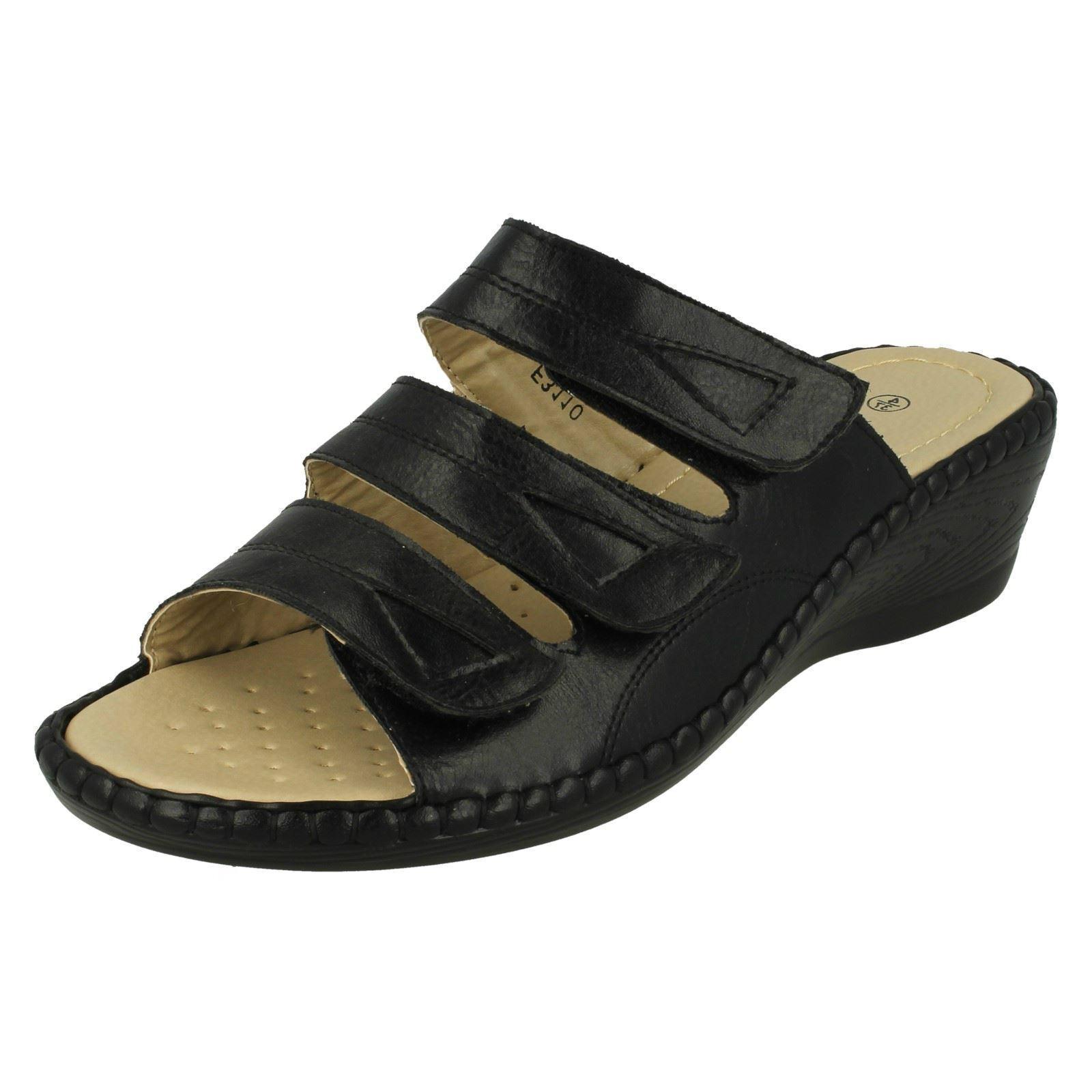 Mujer Eaze f3r110 Negro Zapatos Sin Talón f3r110 Eaze 066c00