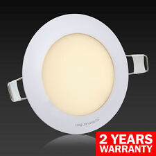 6W LED Round Recessed Ceiling Flat Panel Down Light Ultra slim Warm White
