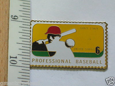 Modern And Elegant In Fashion Hat Tack, Honest 1967-69 Professional Baseball Stamp Sports Pin Lapel Pin #154