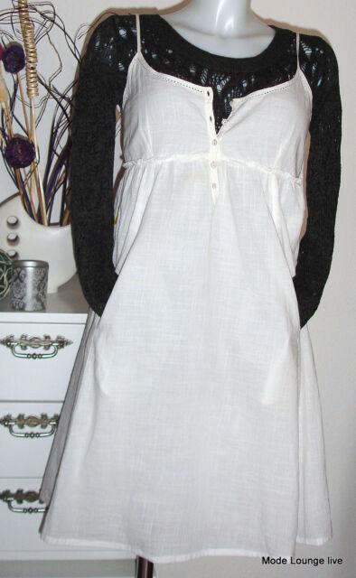 NOA NOA Vestito ISOLA FIORI kjole BIANCO XS 34 NUOVE - cotone - Bianco NUOVO