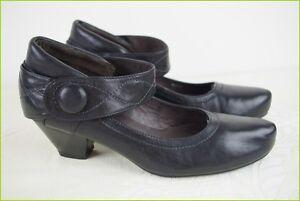 Scarpe con cinturino EMERGENCE Pelle Nera T 37 ottima qualit