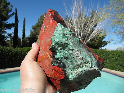 5.9 lb SONORA SUNSET SUNRISE ROUGH RARE CHRYSOCOLLA CUPRITE LAPIDARY CABS MEXICO