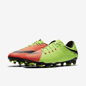 new concept 6fc25 ee331 New Nike Men's Hypervenom Phelon III Green-Orange Size 9.5 ...