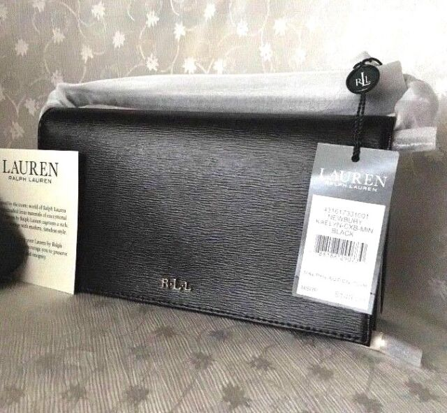 7a8765d52d94 Lauren Ralph Lauren Mini Kaelyn Crossbody Bag Black Wallet Saffiano Leather  Card