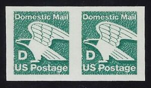 """2112b VF-XF Imperf Tagging Omitted Error / EFO Pair """"D"""" Rate Eagle MNH Cat $100"""