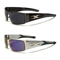 X-Loop Sports Wrap Around Metal Shield Mens Sunglasses New Designer Shades