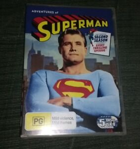 The-Adventures-Of-Superman-Season-2-DVD-2006-5-Disc-Set-New-Unsealed
