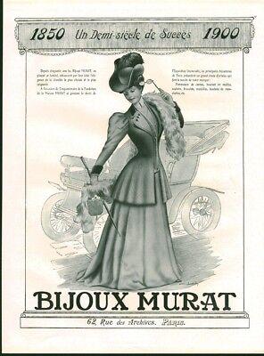 Publicité Ancienne Bijoux Murat Paris 1950 Issue De Magazine Het Voeden Van Bloed En Het Aanpassen Van De Geest