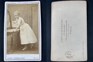 Gaston et Mathieu, Paris, Louise Théo, chanteuse Vintage cdv albumen print CDV
