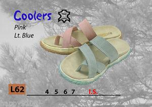 Coolers Frauen Zehentrenner Pink & blau/Holiday Strandschuhe