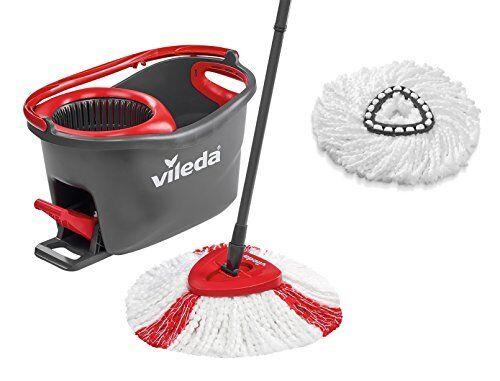 Vileda Turbo EasyWring & Clean Komplett-Set, Wischmop und Eimer sowie extra