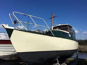 spitzgatter kutter vetus diesel 15 ps angelboot motorboot. Black Bedroom Furniture Sets. Home Design Ideas
