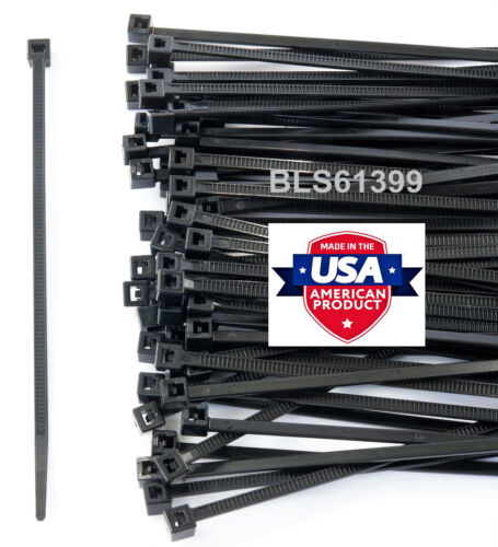 "100 USA Made TOUGH TIES 15/"" inch 120lb Nylon Tie Wraps Wire Cable Zip Ties Black"