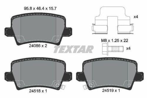 2408601 TEXTAR CAR BRAKE PADS Rear