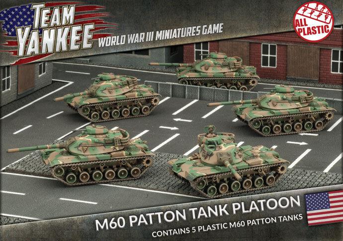 TUBX11 M60 PATTON TANK PLATOON - TEAM YANKEE - FLAMES OF WAR