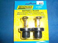 Seachoice Bait Tank Plugs Live Wells 3/8 Holes 2 Pack