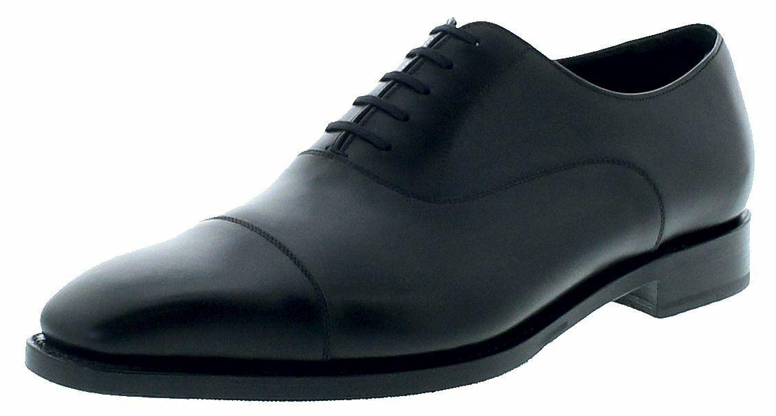 Sendra botas 16371 caballero zapatillas de Oxford schnürschuh zapatos de piel negro