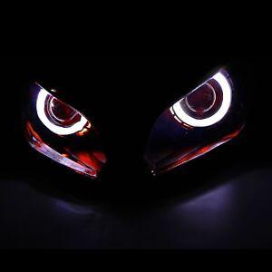Demon Angel Eye HID Projector Headlight Assembly FitFor Kawasaki Ninja 300 13-17
