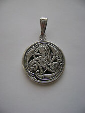 Sterling Silver Crop Circle Design Tribal Pendant New