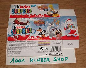 "Kinder ""tt"" 3pack Tripack Looney Tunes Show 2007 Be Bnl Belgium Benelux Ralc2upu-07233240-714639977"