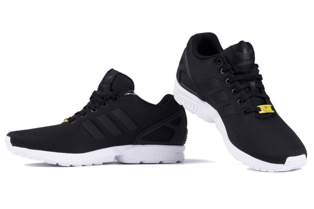 24dcf49be8fe adidas Originals ZX Flux Black White Mens Fashion SNEAKERS Running ...