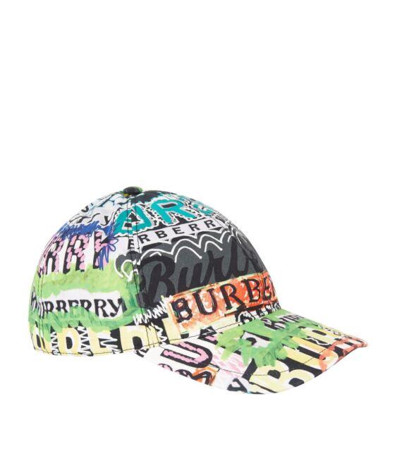 8d238f18d105f Burberry Fonts Archive Logo Print Multicolored Baseball Cap M l Hat ...