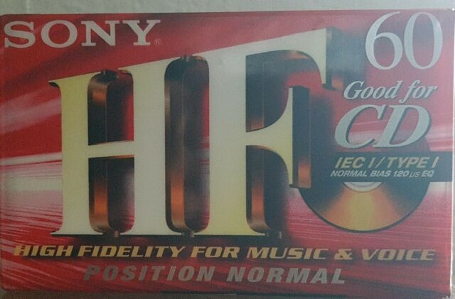 SONY SUPER EF 60   Audiokassette Audio Tape Kassette Cassete