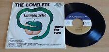 "THE LOVELETS - EMMANUELLE / SNOW FOR TWO - 45 GIRI 7"" - ITALY PRESS"