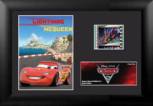 Film Cell Genuine 35mm Framed  Matted Disney Pixar Cars 2 Lightning McQueen 5629