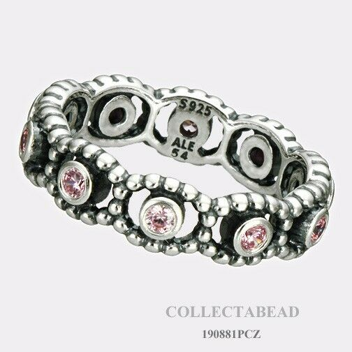 13732f807 Authentic PANDORA Silver Pink Oriental Blossom Ring - Size 54 - 191001pcz  for sale online   eBay