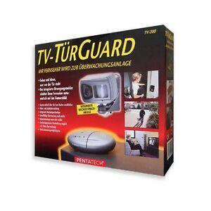 TV-TuerGuard-TV-200-Wechselsprechanlage-Uberwachungskamera-mit-Bewegungsmelder
