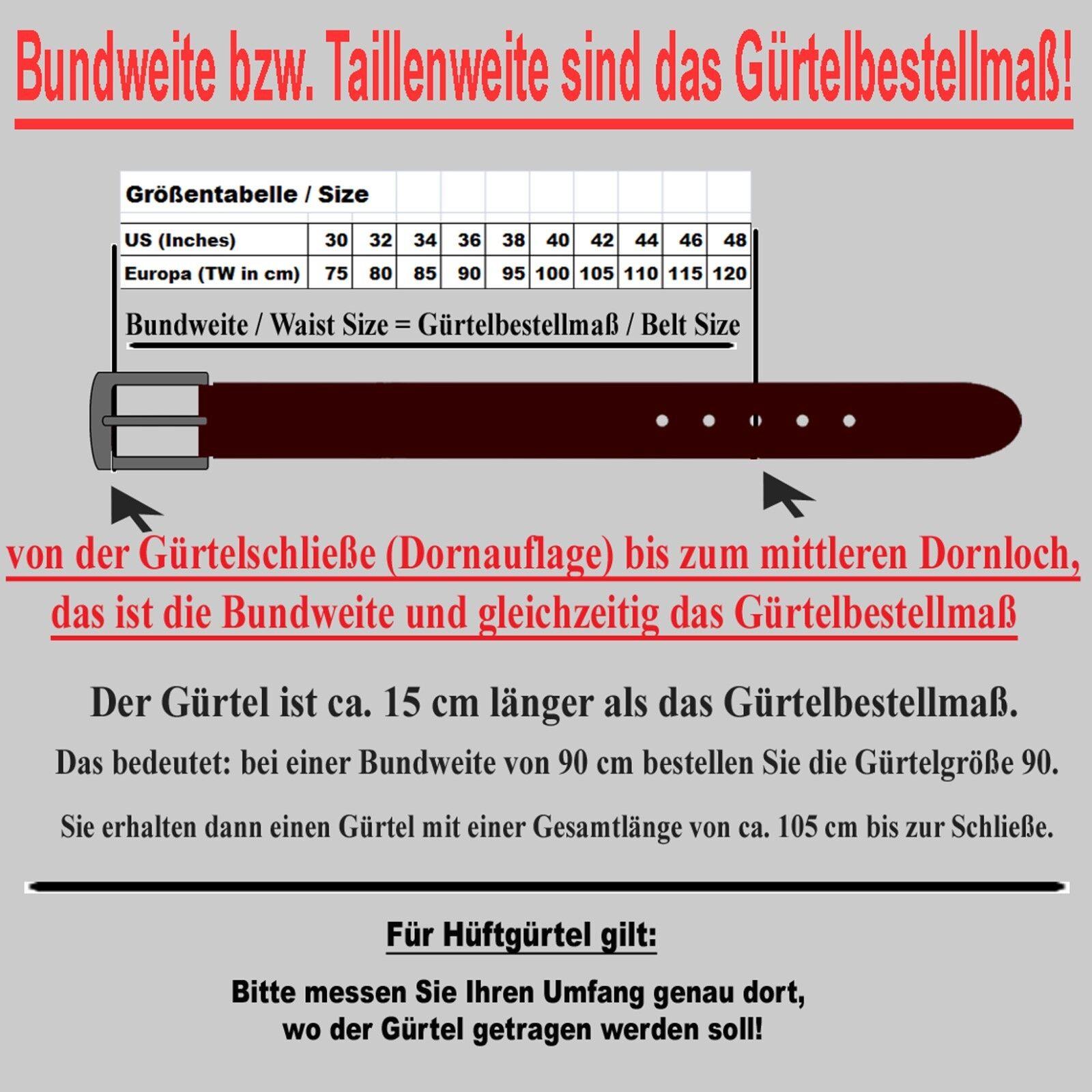 Bernd Götz Herren Gürtel 50379 0020 Walkleder Schwarz Ledergürtel 95