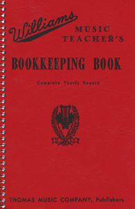 Williams-Music-Teacher-039-s-Bookkeeping-Book-Record-Book