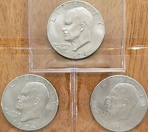 3-Different-Eisenhower-Ike-Dollars-Check-It-Out-AA232-1