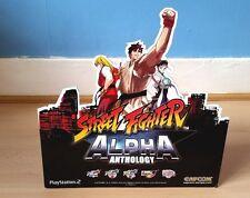 Street Fighter Alpha Antología signo de visualización de Tienda de PlayStation 2 Artículo Muy Raro