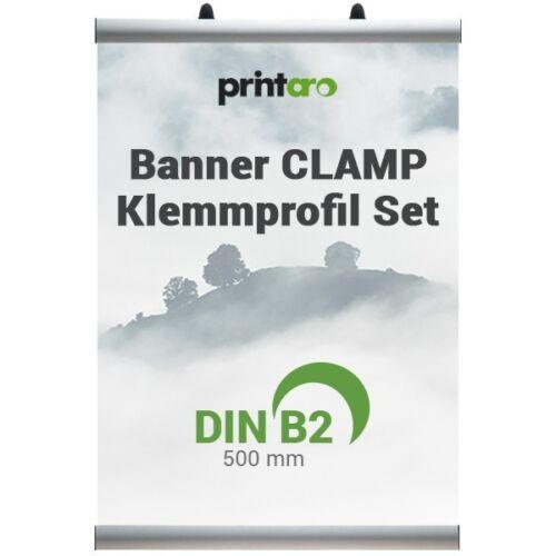 Stoffbanner-Klemmschienen-Set Alu-CLAMP DIN B2//50 cm
