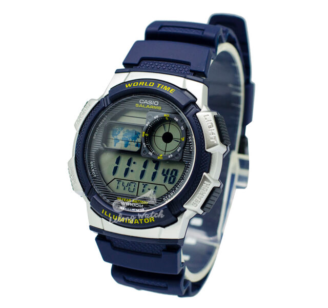-Casio AE1000W-2A Digital Watch Brand New & 100% Authentic