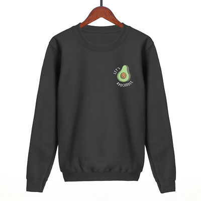 Avocuddle Avocado Fruit Sweatshirt Mens Women Unisex Funny Sweat Swag Fashion