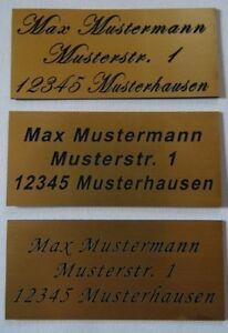 1 Gravurschild (in verschiedenen Größen und Schriftarten erhältlich)