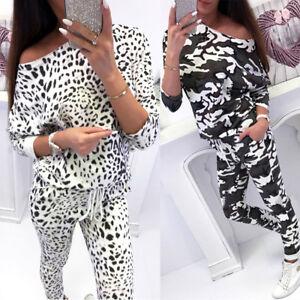 Lady-Casual-Loungewear-2Pcs-Set-Sweatshirt-Joggers-Tracksuit-Activewear-Pants